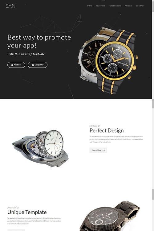Купить лендинг часов